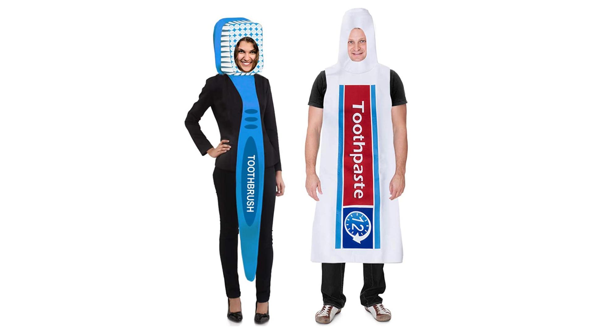 Brosse à dents et dentifrice Costumes de couple pour Halloween