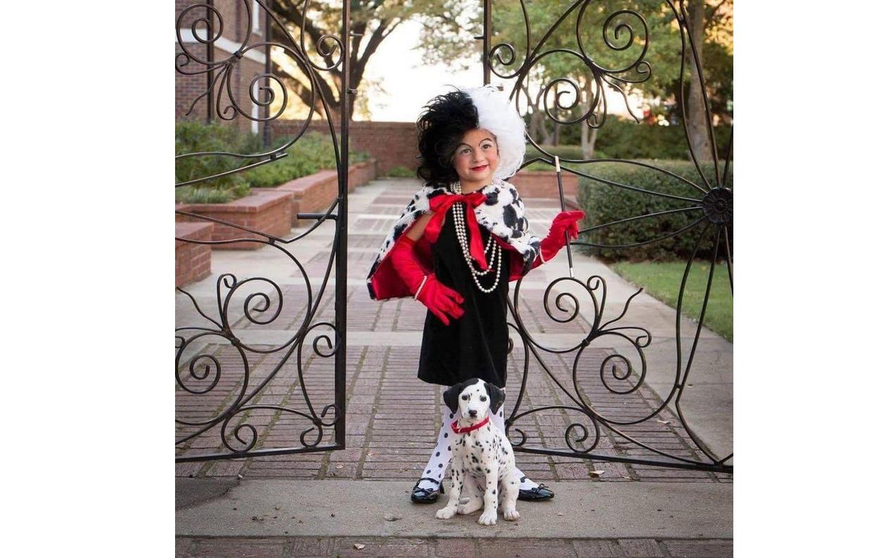 Costume d'halloween pour enfants Cruella Devil
