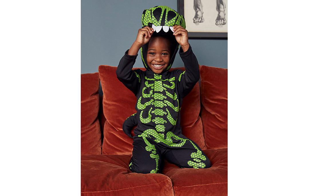 Costume de squelette de dinosaure
