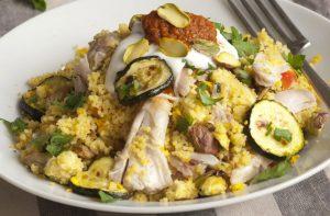 Salade de poulet marocaine à faible teneur en glucides