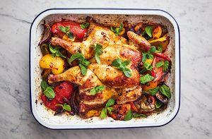 Plateau de poulet à l'harissa de Jamie Olivers