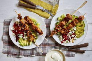 Souvlaki de poulet à faible teneur en glucides