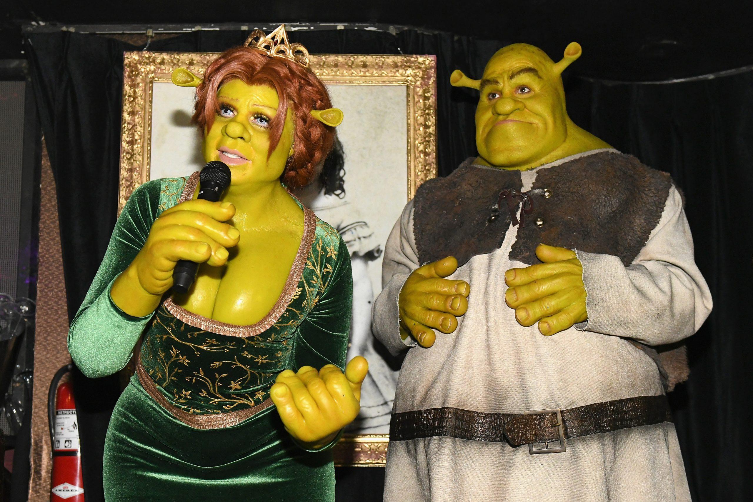 Heidi Klum et Tom Kaulitz dans le rôle de Shrek et Fiona.
