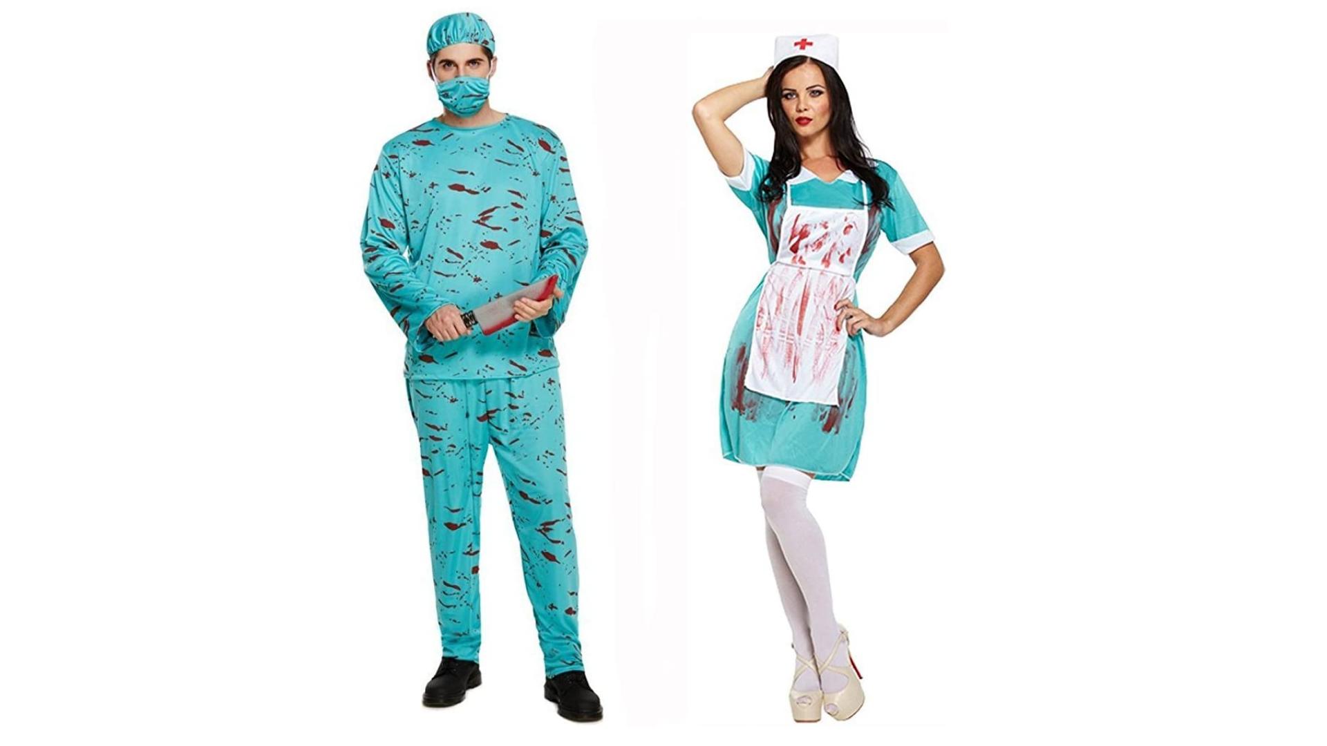 Costumes d'infirmière et de médecin pour Halloween