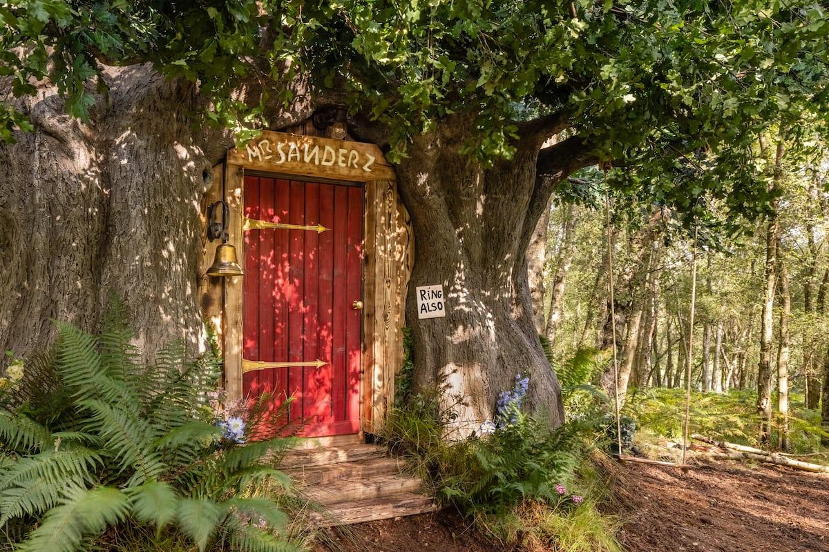 Airbnb Winnie the Pooh cabane dans les arbres