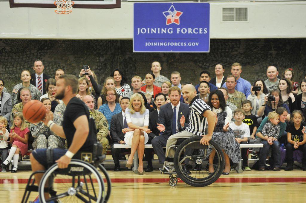 Le Prince Harry et Jill Biden