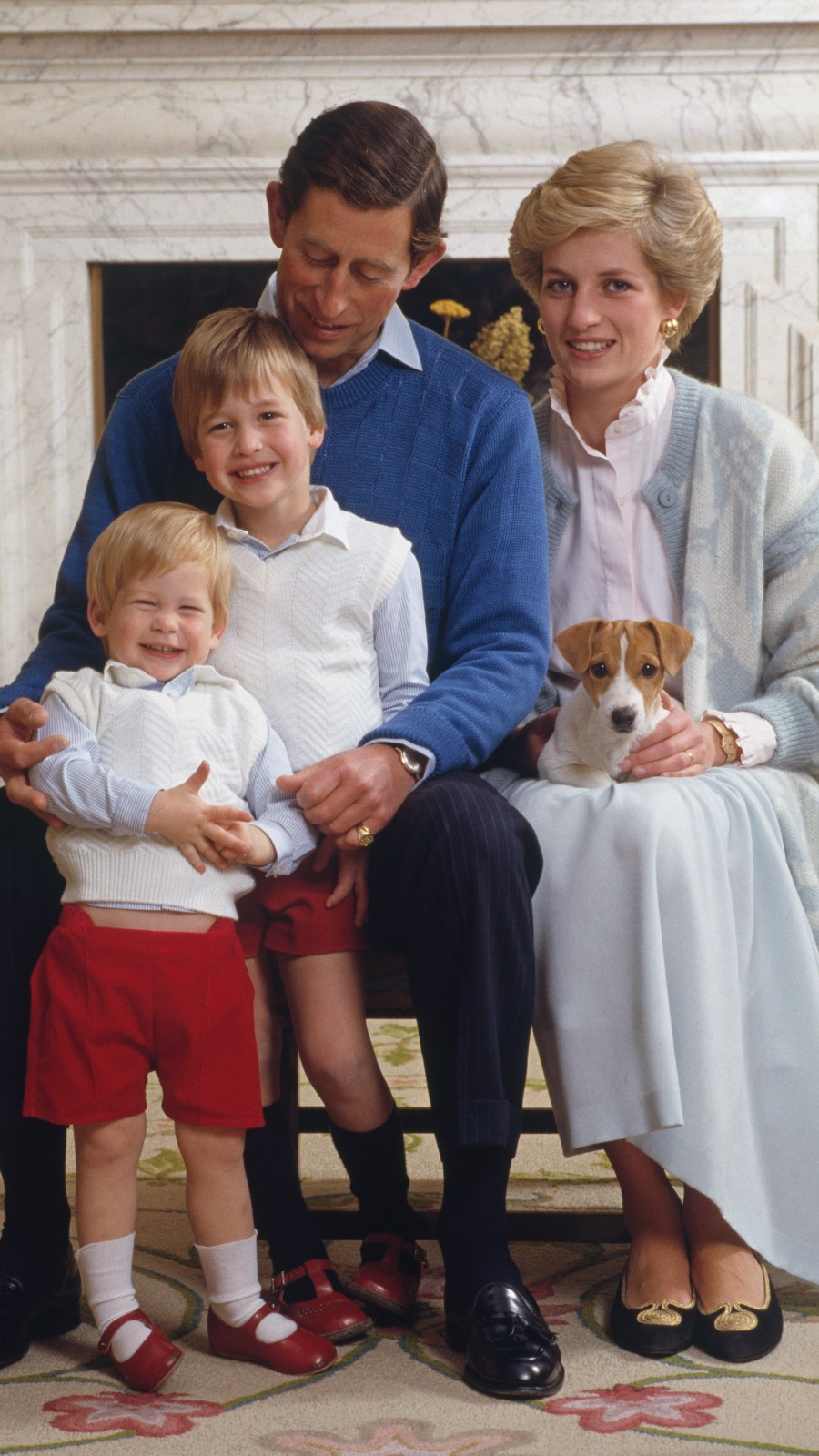 Prince Charles Princesse Diana, Prince William et Prince Harry