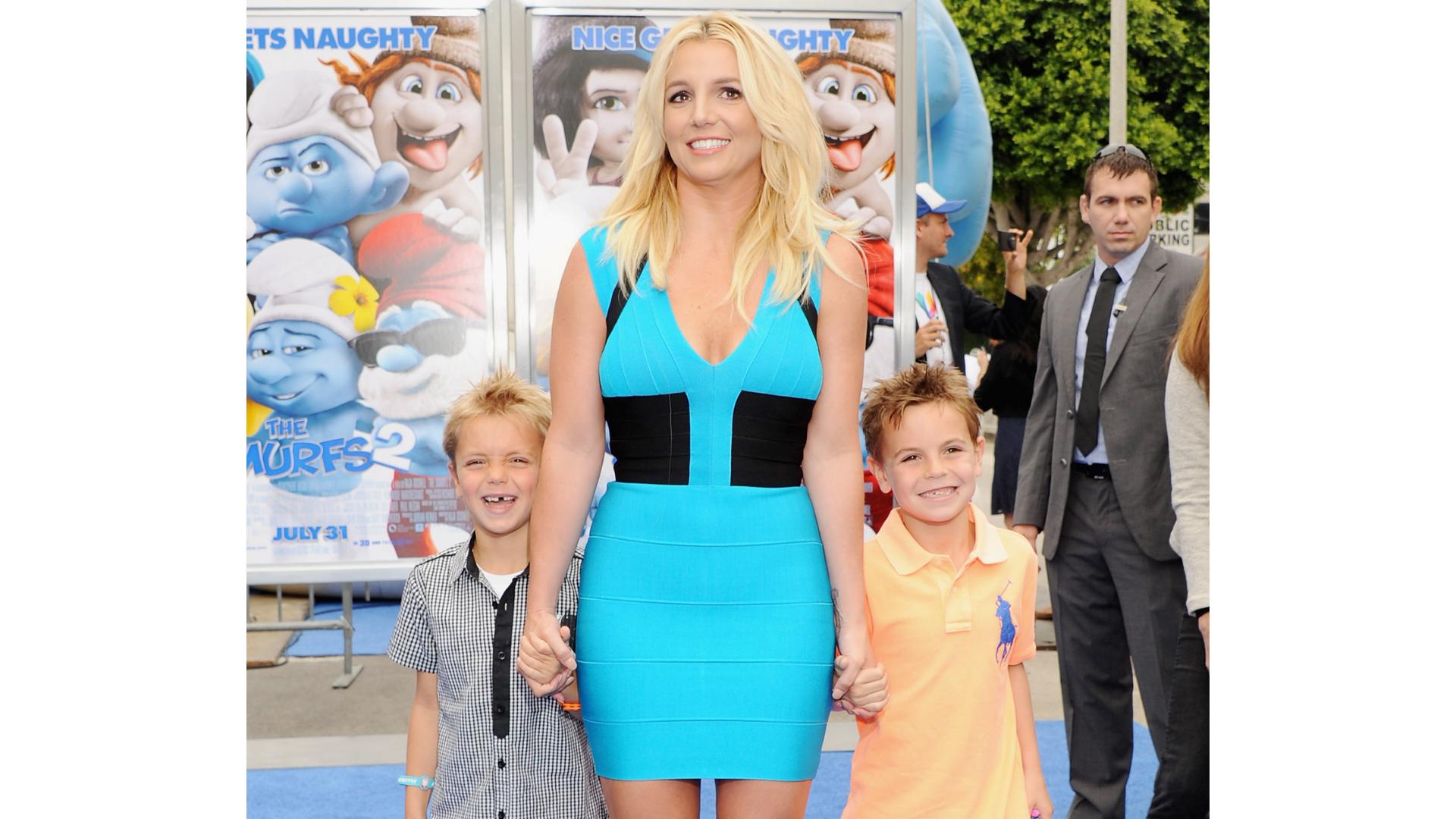 Britney Spears et ses fils Sean et Jayden.