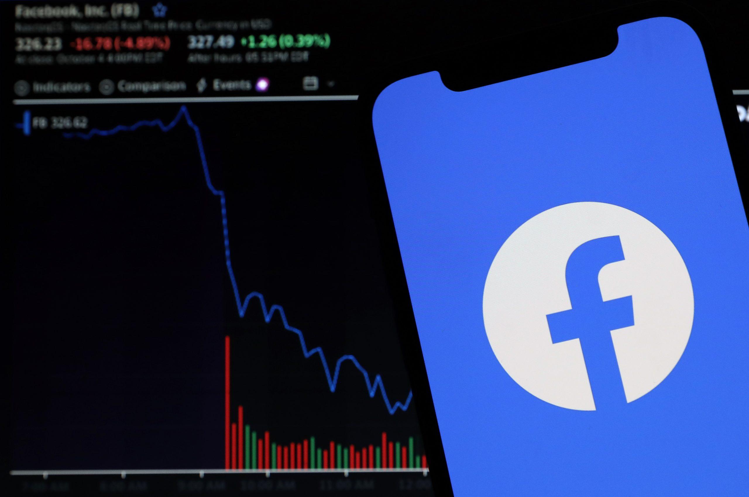 Chute des actions de Facebook en cas de panne