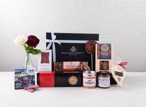Panier cadeau de Noël en chocolat artisanal