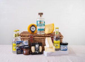 Le panier de fromage et de gin aux algues galloises