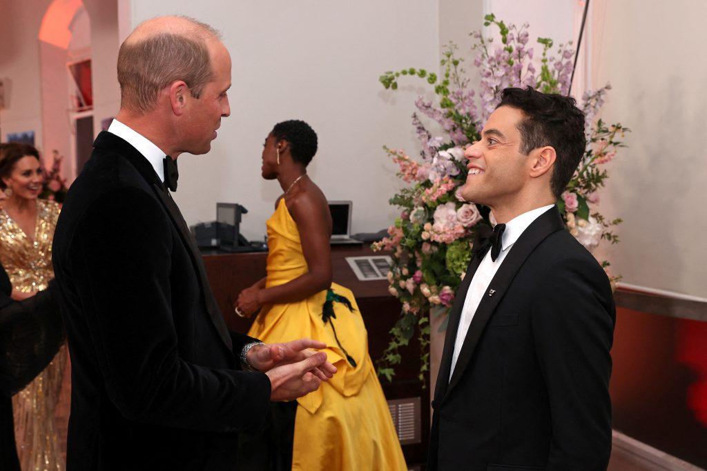 Prince William, Rami Malek, Kate Middleton