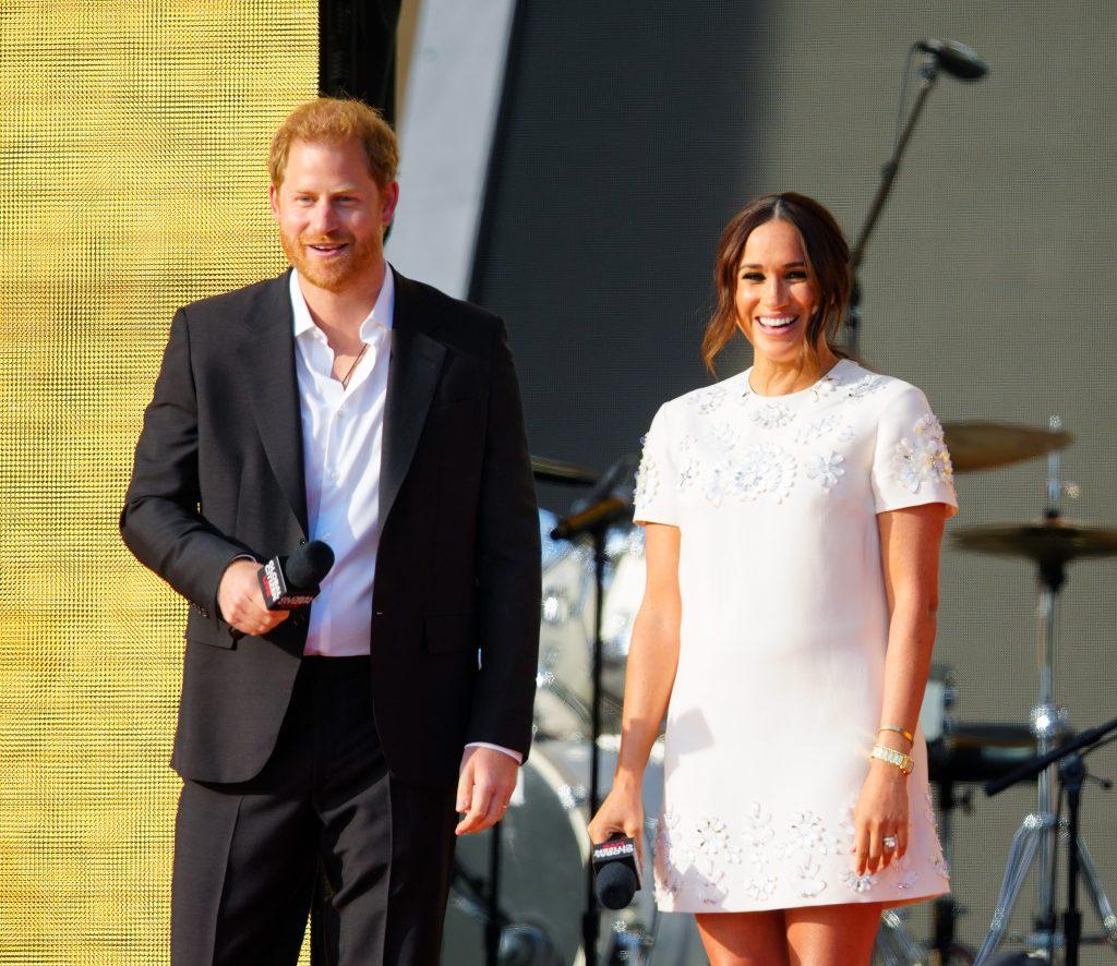 Le prince Harry et Meghan Markle s'expriment sur la scène du Global Citizen Live : New York le 25 septembre
