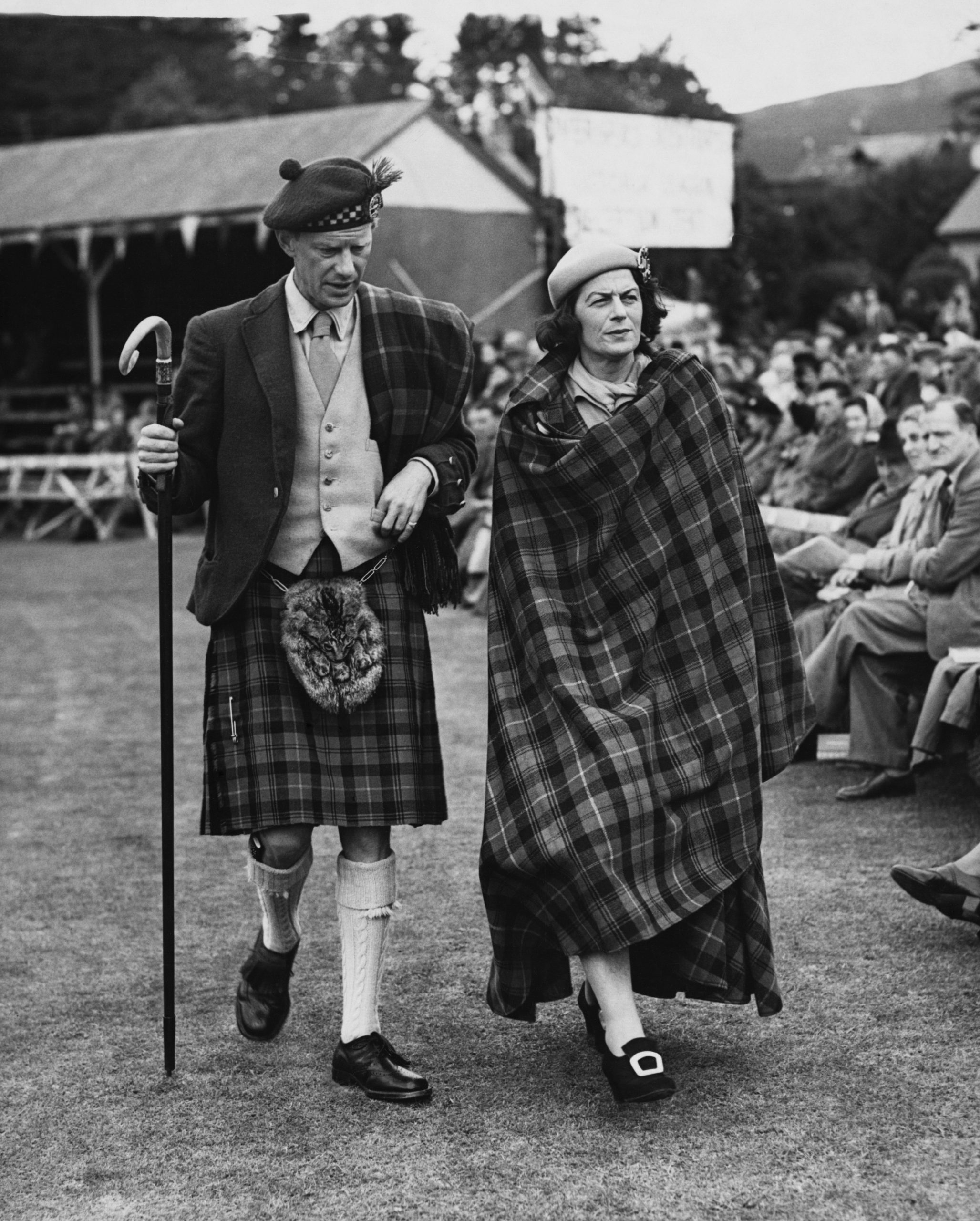 Le capitaine Farquharson et son épouse, amie proche de la reine et du prince Philip.