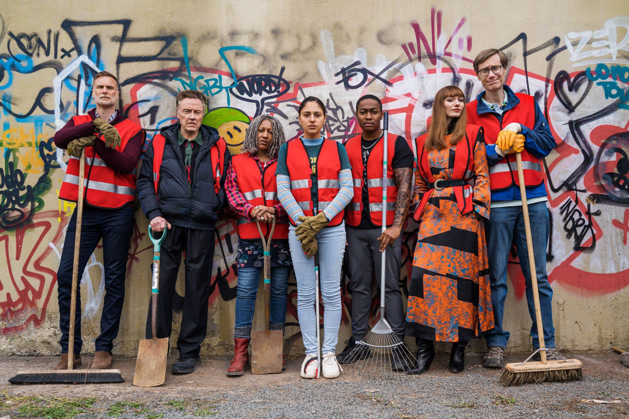 Les acteurs de la nouvelle émission de la BBC, The Outlaws.